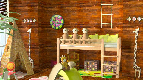childrens jungle room - Kids room - by Dina1970