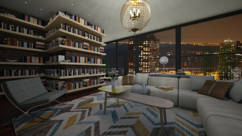 bookworm living room - by PoukInteriors