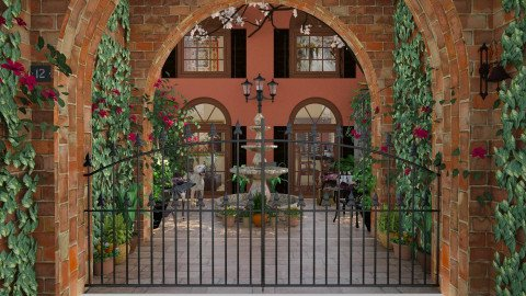 Design 45 French Quarter Courtyard - Garden - by Daisy320