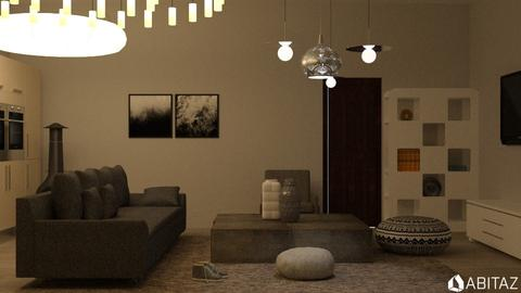 Grey Living - Living room - by DMLights-user-2134665
