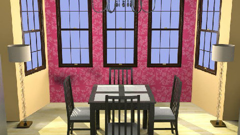 ...Squared Apricot In Pink... - Dining Room - by Mysterious