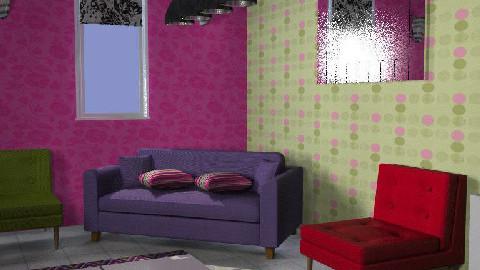 A spot of colour! - Living room - by Kelerah