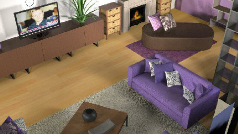 Purple livingroom2 - Living room - by nikuska91