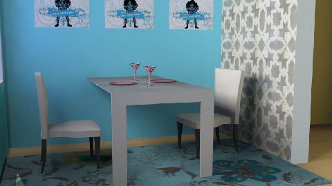 Blue For Two - Dining Room - by deco deco