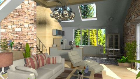 Summer House in the Wood - Country - Living room - by Bibiche