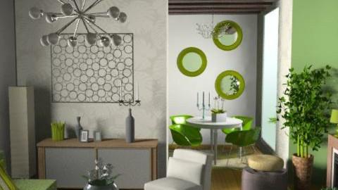 green retro - Retro - Living room - by dominicjames