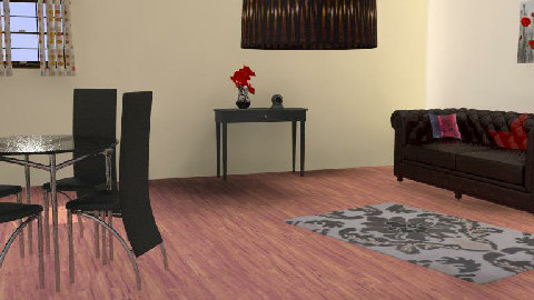 Red-black - Dining Room - by MagnifiquE
