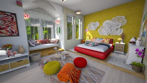 garden joy - Bedroom - by Moonpearl