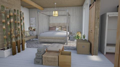 low key bedroom - Bedroom - by Moonpearl