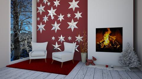 Christmas stars - Living room - by Crazy cat girl 10