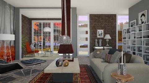 Autumn_ Grey Mist - Modern - Living room - by janip