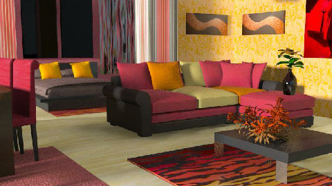 Warm Room - Living room - by szalaiedit