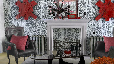 B&W AND RED ALL OVER - Dining Room - by thisisinteresting