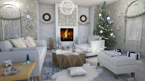Christmas stars - Living room - by Moonpearl