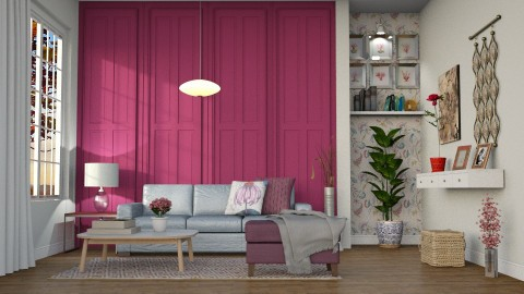 Painel madeira pink - by Alecio
