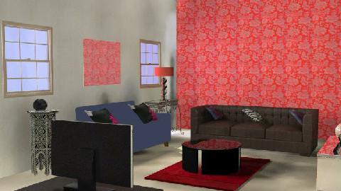 black or red - Living room - by somimalik