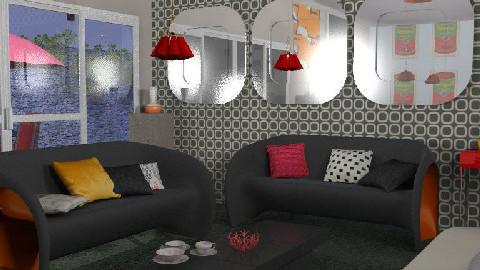 retro living - Retro - Living room - by nadege