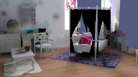 young girl - Bedroom - by lo0olica
