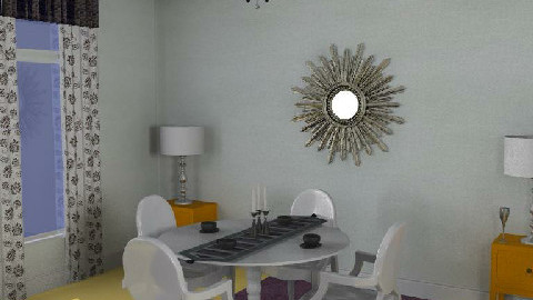 Halo-chic - dining  - Dining Room - by gingerpantz