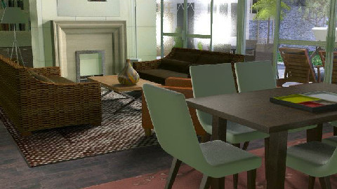 a bit rustic but not corny - Rustic - Dining room - by doudou