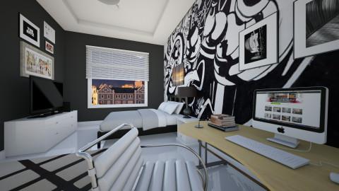 black  - Modern - Bedroom - by Nhezi