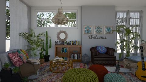 Boho living room - Living room - by sillvie