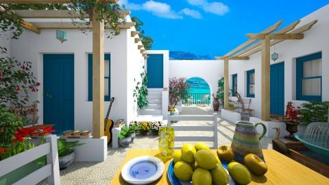 Design 82 Skopelos Courtyard - Garden - by Daisy320