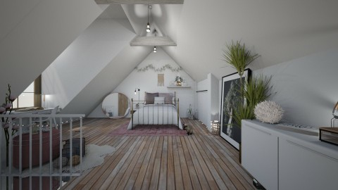 Pink Attic Room - by StienAerts