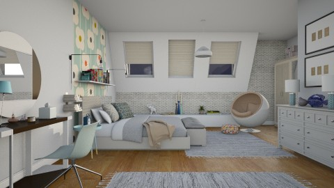 Teenager In The Attic - Modern - Bedroom - by janip