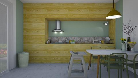 Kitchen and Dining room - Minimal - Dining room - by Annathea