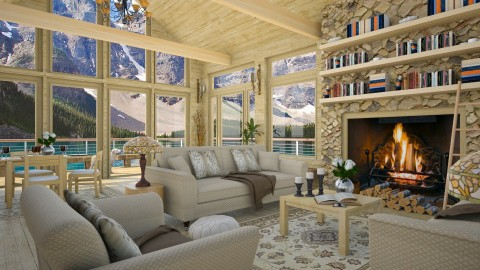 Design 253 Canadian Rockies Vacation - Living room - by Daisy320