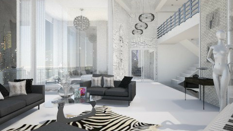 penthouse  - Living room - by LopezLaura