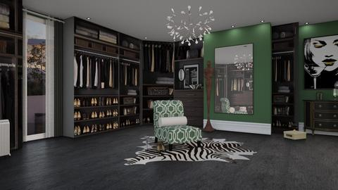 BLACK GREEN CLOSET  - by patriicia popa