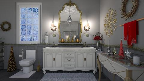 Christmas Bathroom  - Bathroom - by Kelly Carter