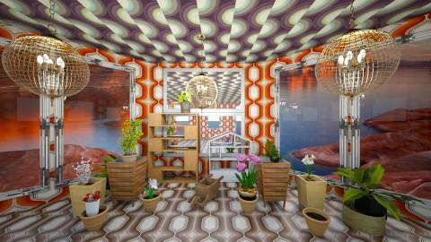 Golden Room - Retro - Garden - by lori gilluly