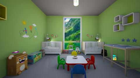 Chambre jumeaux de 15 mois - Kids room - by Laura DROUHARD_58