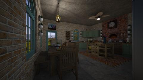 Design 6 FAMILY FARM K - Kitchen - by michellitamuralles