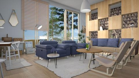 Denim - Living room - by ZuzanaDesign