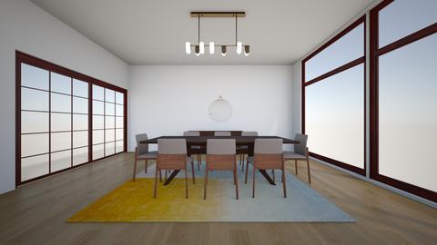 Paulina walnut  countour - Dining room - by karlitajmlm