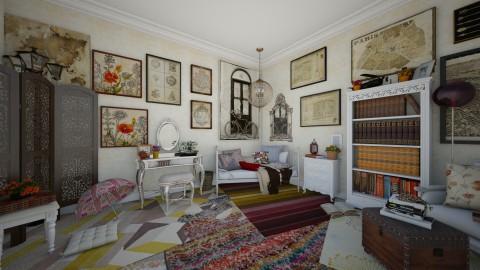Bohemian Inspired - Bedroom - by Jodie Scalf