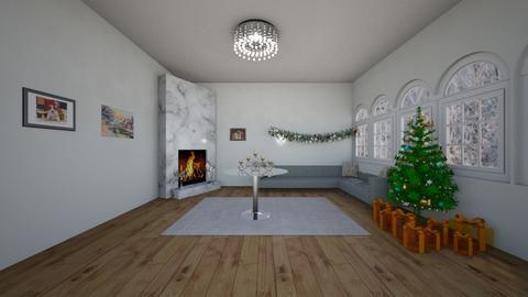 christmas living room - Living room - by Yana Kutsak