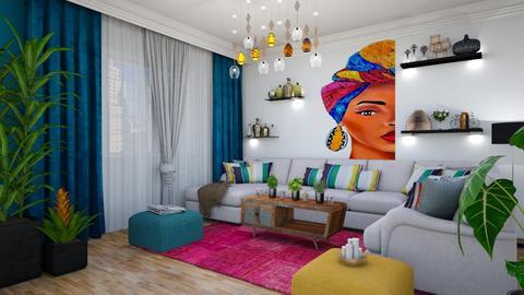 African living room - Living room - by Popa Bianca Rozalia