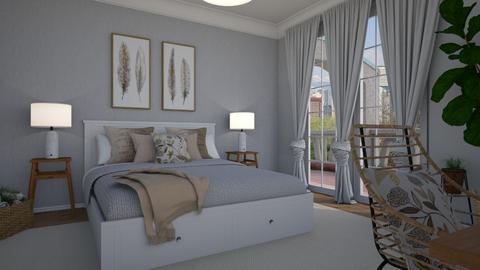 New curtains - Bedroom - by Tuija