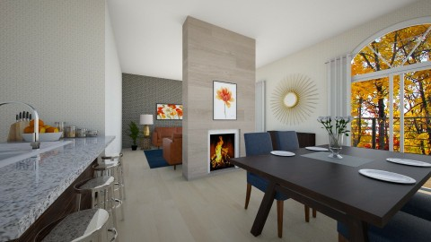 Fireplace divider - Feminine - Living room - by jnd444