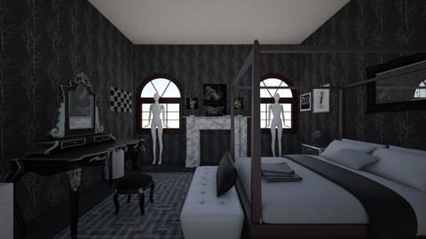 Gothic Room Remastered - Modern - Bedroom - by Harleen Quinnzel
