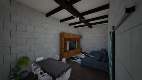 Loft - Living room - by NICOLY ALECRIM