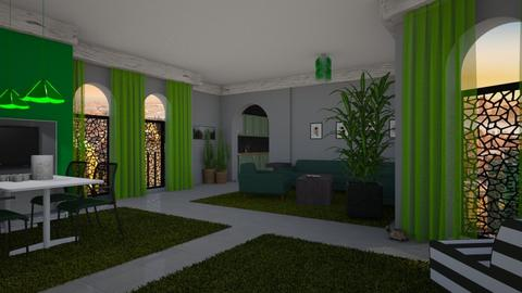 green living room - by ilcsi1860