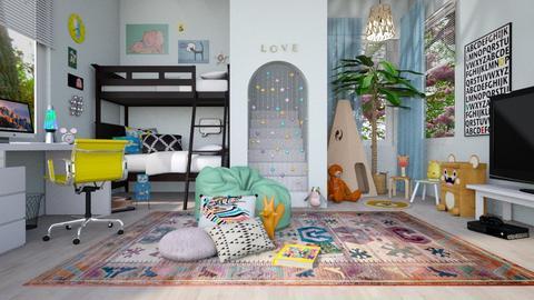Bunk Bed Room - Kids room - by ScillaSiberica