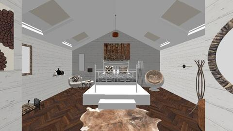 brown bedroom - Vintage - Bedroom - by inbal avni