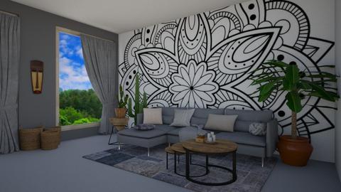 bohemian living1 - Living room - by georgianavlaicu0